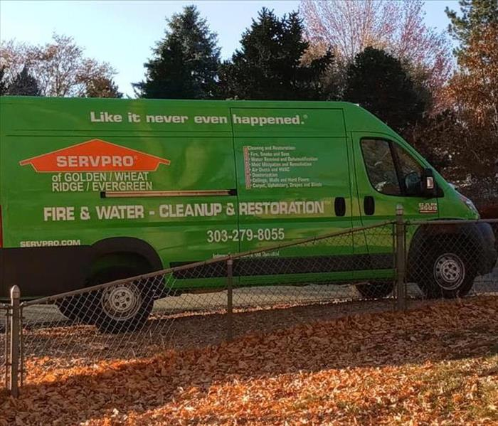 SERVPRO of Lakewood-Ken Caryl Truck at a Mold Mitigation