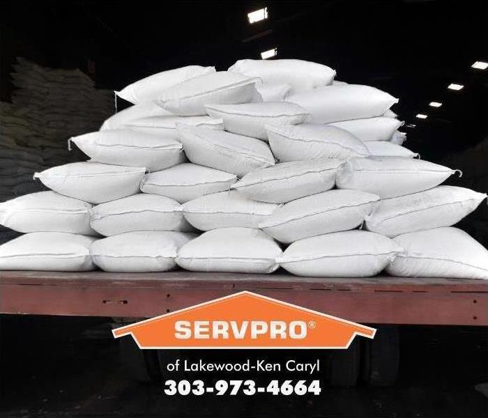 stacks of sand bags